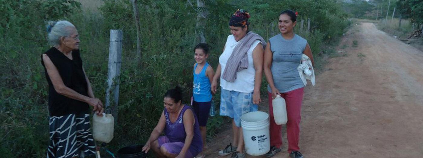 inician un proyecto para el abastecimiento de Agua Potable para familias guaraníes