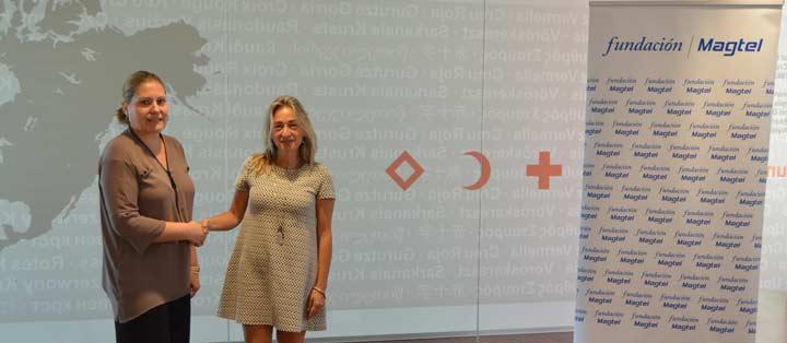 Firma de convenio entre Cruz Roja y Fundación Magtel